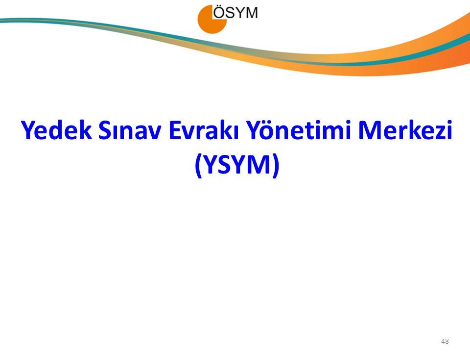 Yedek Sınav Evrakı Yönetimi Merkezi (YSYM) 48