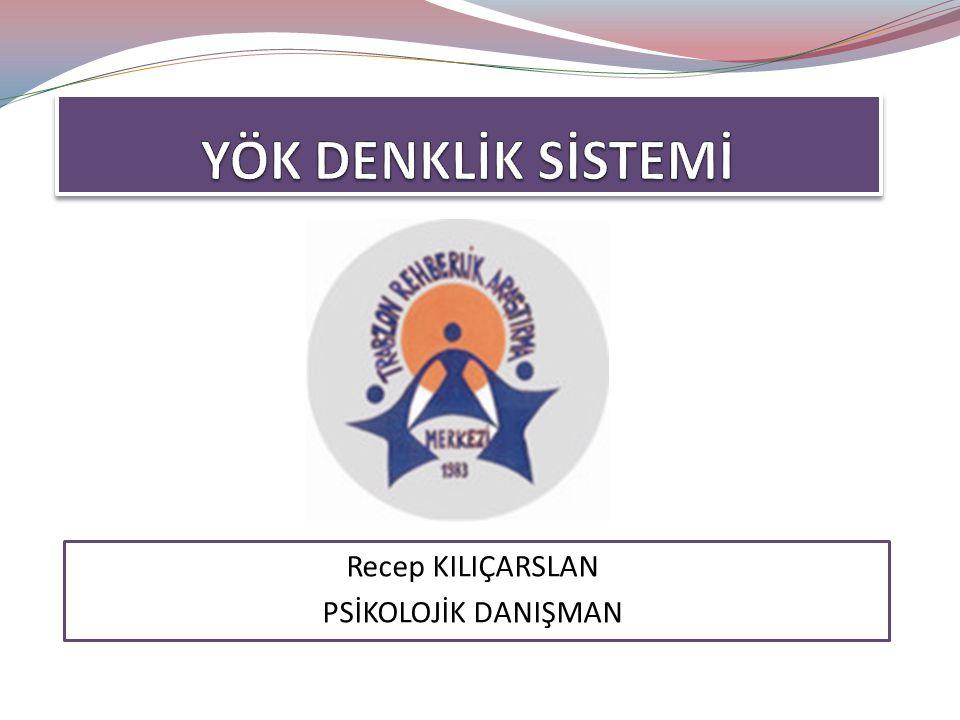 Recep KILIÇARSLAN PSİKOLOJİK DANIŞMAN
