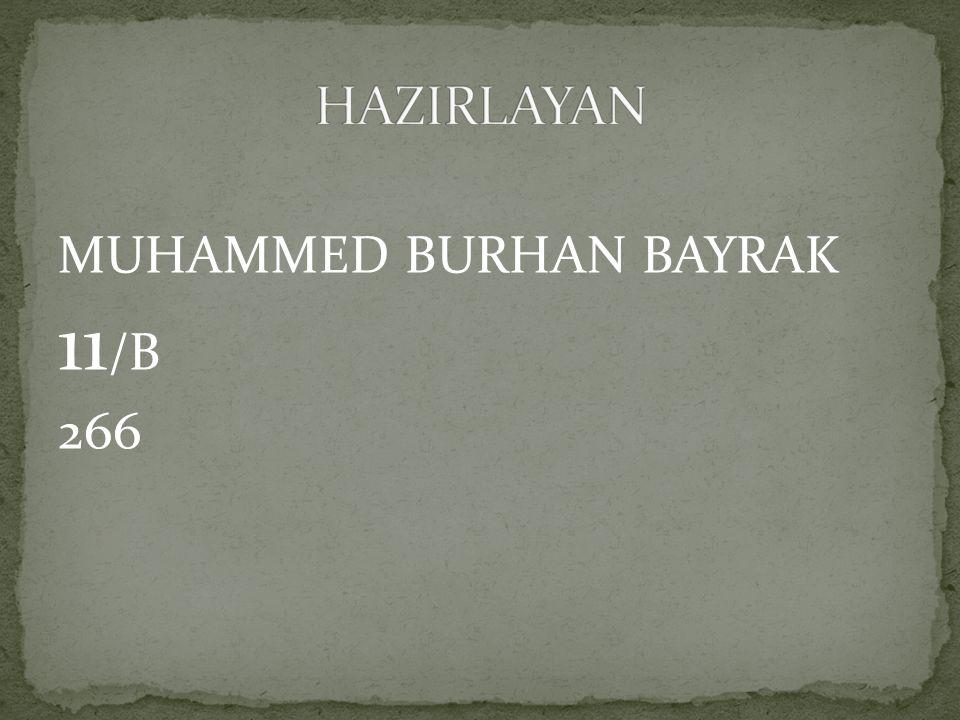 MUHAMMED BURHAN BAYRAK 11 /B 266