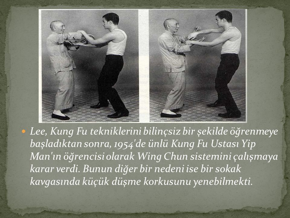 1970 yılında Bruce Lee antrenman yaparken belini ciddi şekilde sakatladı.