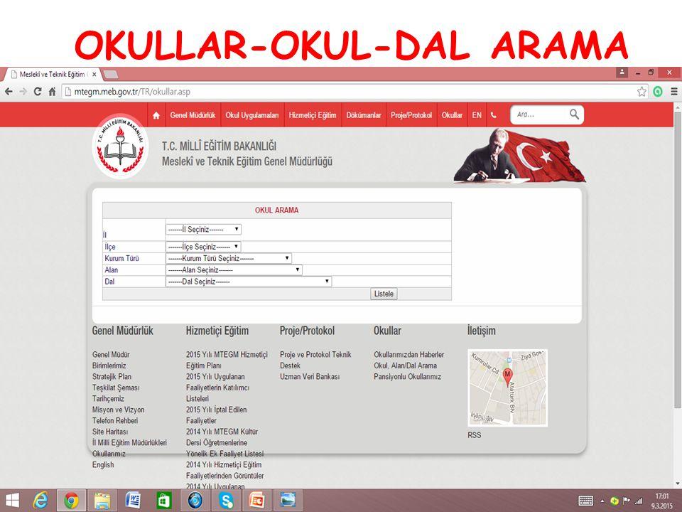 OKULLAR-OKUL-DAL ARAMA