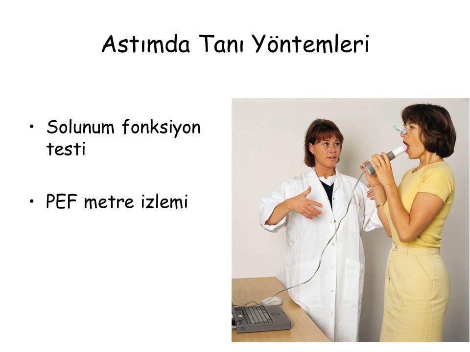 Astımda Tanı Yöntemleri Solunum fonksiyon testi PEF metre izlemi