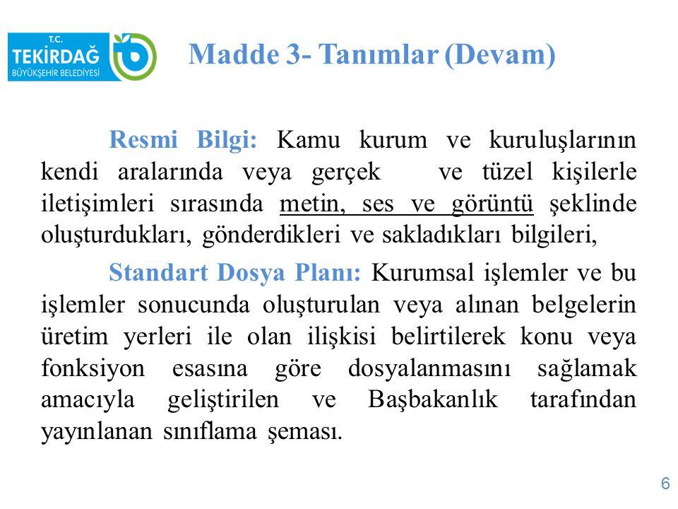 Madde 14- Metin (Devam) Valilik makamından Vali a.