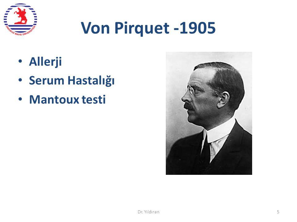 Von Pirquet -1905 Allerji Serum Hastalığı Mantoux testi Dr. Yıldıran5