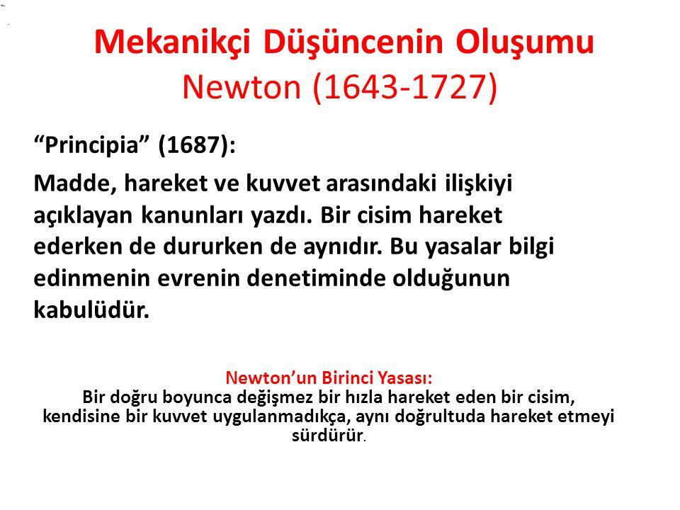 Principia (1687): Madde, hareket ve kuvvet arasındaki ilişkiyi açıklayan kanunları yazdı.