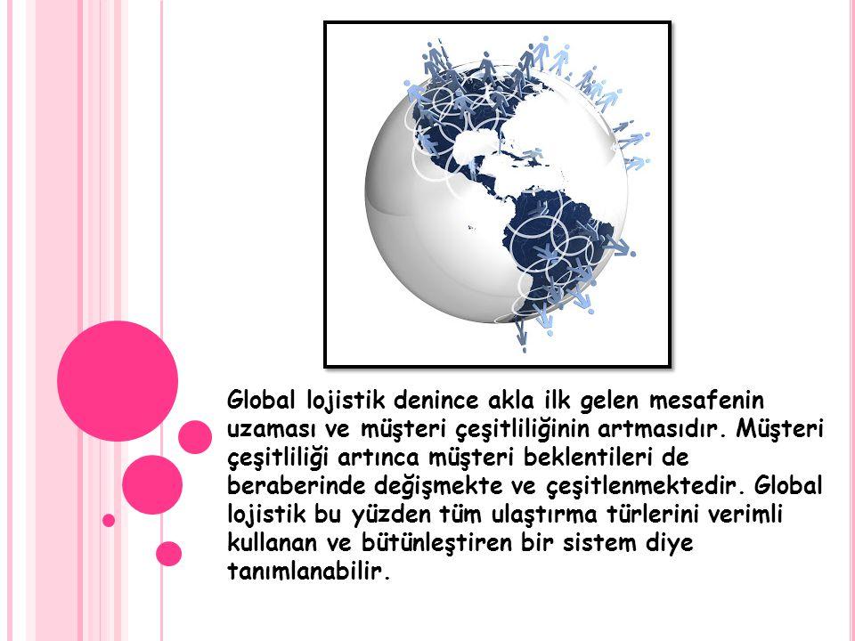 Global lojistik denince akla ilk gelen mesafenin uzaması ve müşteri çeşitliliğinin artmasıdır. Müşteri çeşitliliği artınca müşteri beklentileri de ber