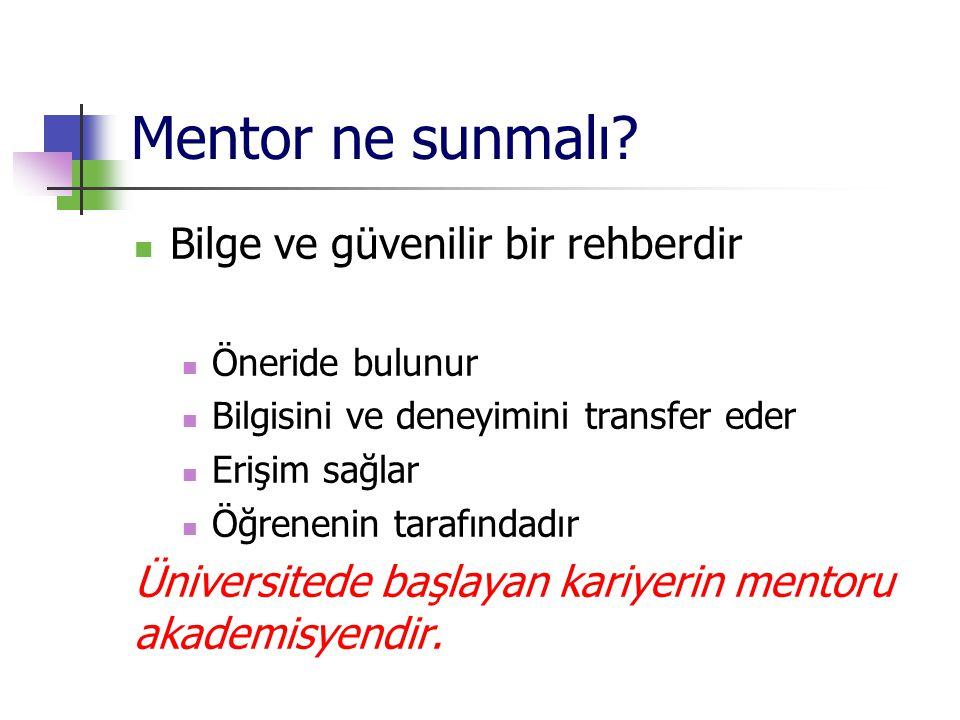 Mentor ne sunmalı.