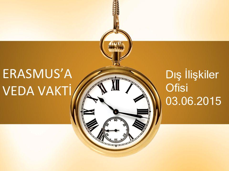 ERASMUS'A VEDA VAKTİ Dış İlişkiler Ofisi 03.06.2015