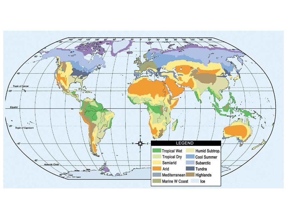 Kuvaterner'de glasiyal bir devre sırasında yeryüzünde yıllık ortalama sıcaklık, birçok yerde 5-12 o arasında değişen bir alçalma göstermiş, interglasiyal devrelerde ise Orta Kuşak'ta sıcaklık, bugünküne göre 2-3 o kadar artış göstermiştir.