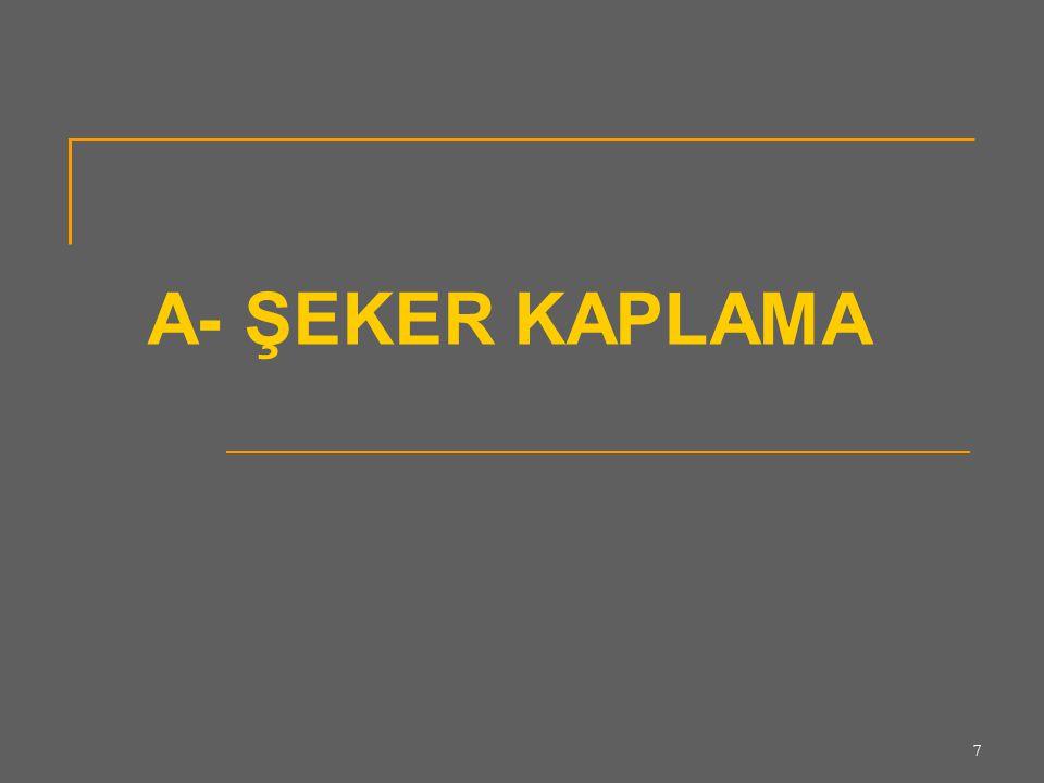 7 A- ŞEKER KAPLAMA