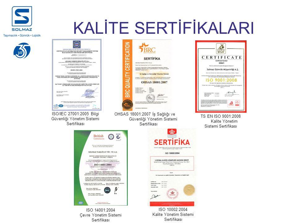 KALİTE SERTİFİKALARI ISO/IEC 27001:2005 Bilgi Güvenliği Yönetim Sistemi Sertifikası TS EN ISO 9001:2008 Kalite Yönetim Sistemi Sertifikası OHSAS 18001:2007 İş Sağlığı ve Güvenliği Yönetim Sistemi Sertifikası ISO 14001:2004 Çevre Yönetim Sistemi Sertifikası ISO 10002:2004 Kalite Yönetim Sistemi Sertifikası