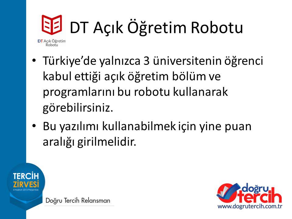 Türkiye'de yalnızca 3 üniversitenin öğrenci kabul ettiği açık öğretim bölüm ve programlarını bu robotu kullanarak görebilirsiniz.