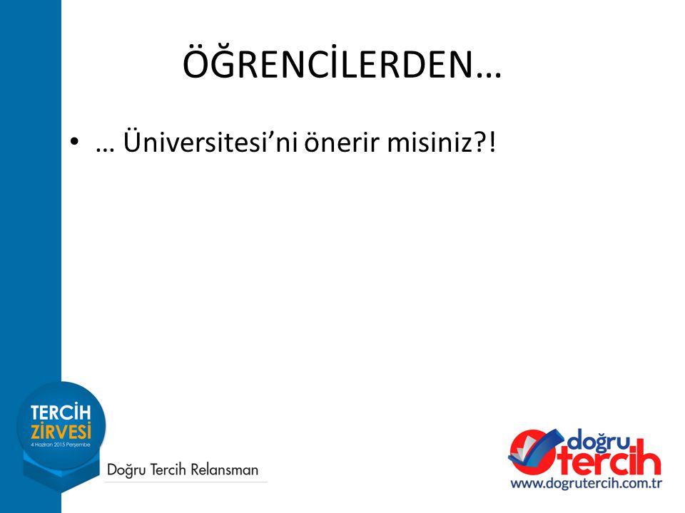 ÖĞRENCİLERDEN… … Üniversitesi'ni önerir misiniz?!