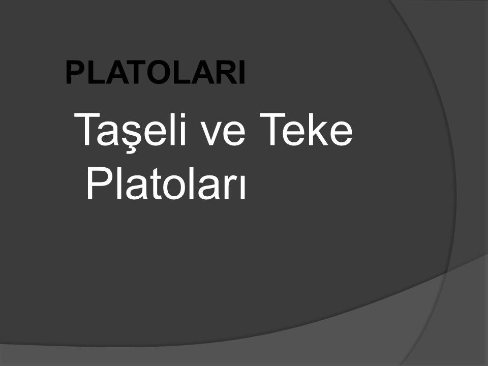 PLATOLARI Taşeli ve Teke Platoları