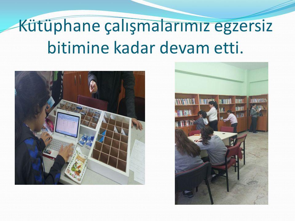 Kütüphane çalışmalarımız egzersiz bitimine kadar devam etti.