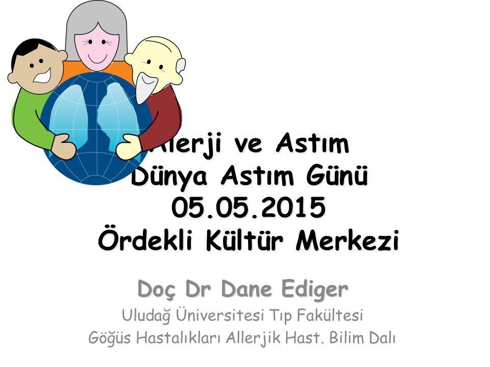 Alerji ve Astım Dünya Astım Günü 05.05.2015 Ördekli Kültür Merkezi Doç Dr Dane Ediger Uludağ Üniversitesi Tıp Fakültesi Göğüs Hastalıkları Allerjik Ha