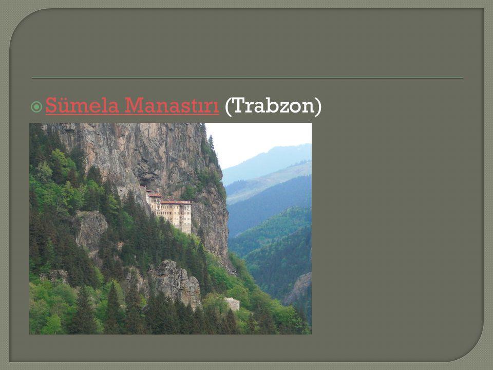  Sümela Manastırı (Trabzon) Sümela Manastırı