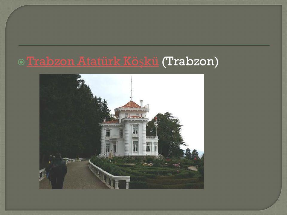  Trabzon Atatürk Kö ş kü (Trabzon) Trabzon Atatürk Kö ş kü