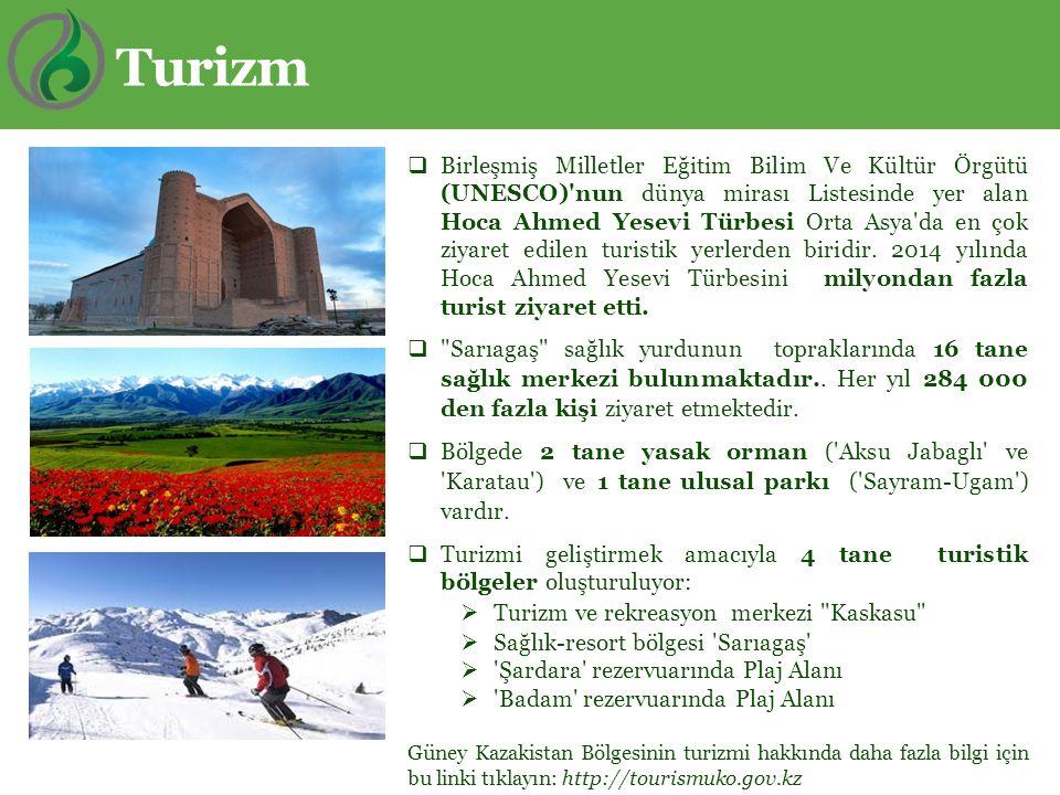  Birleşmiş Milletler Eğitim Bilim Ve Kültür Örgütü (UNESCO)'nun dünya mirası Listesinde yer alan Hoca Ahmed Yesevi Türbesi Orta Asya'da en çok ziyare