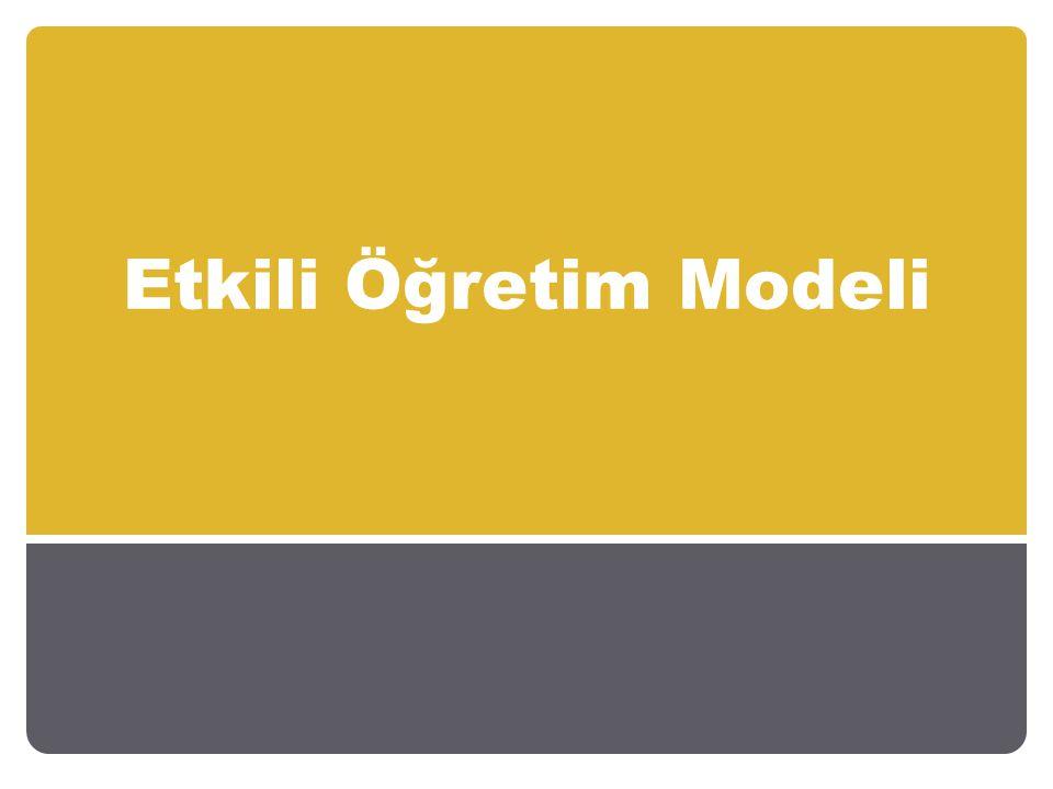 Etkili Öğretim Modeli