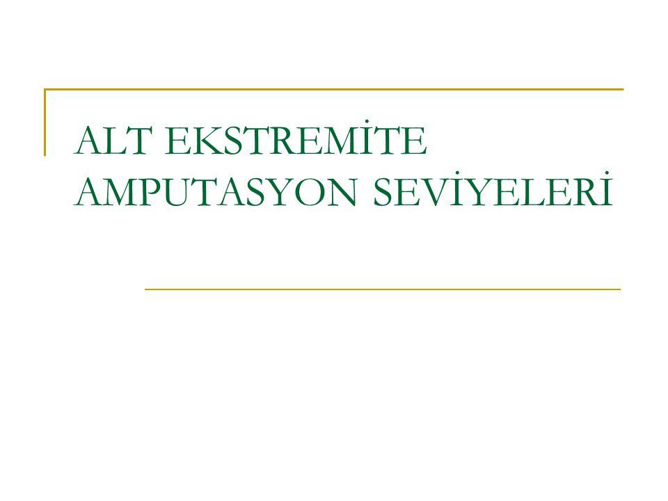 ALT EKSTREMİTE AMPUTASYON SEVİYELERİ