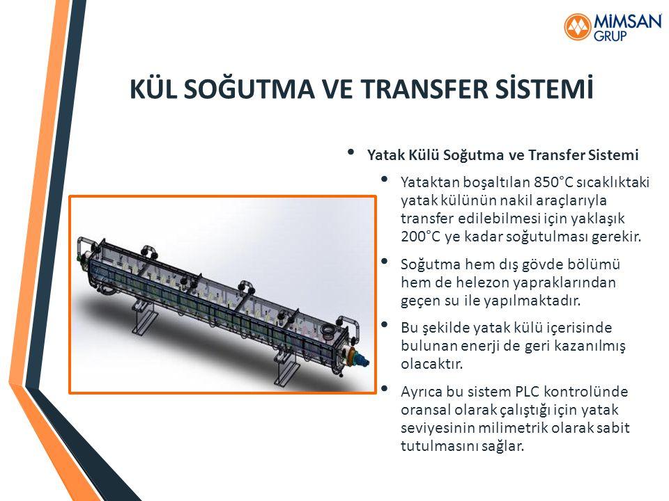 KÜL SOĞUTMA VE TRANSFER SİSTEMİ Yatak Külü Soğutma ve Transfer Sistemi Yataktan boşaltılan 850°C sıcaklıktaki yatak külünün nakil araçlarıyla transfer