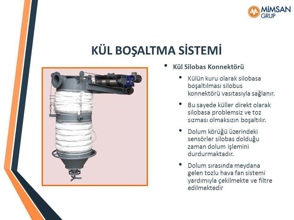 KÜL BOŞALTMA SİSTEMİ Kül Silobas Konnektörü Külün kuru olarak silobasa boşaltılması silobus konnektörü vasıtasıyla sağlanır. Bu sayede küller direkt o