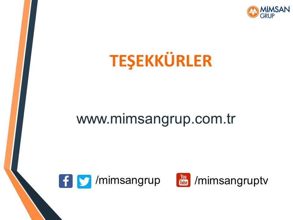 TEŞEKKÜRLER www.mimsangrup.com.tr /mimsangrup /mimsangruptv