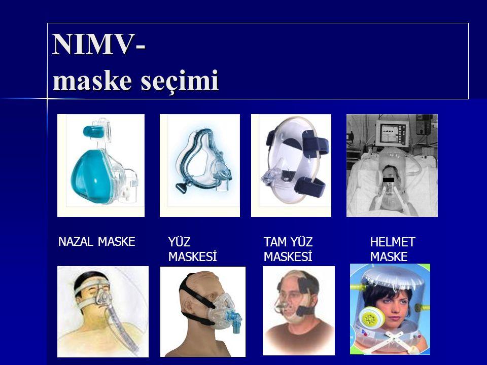 NIMV- maske seçimi NAZAL MASKE YÜZ MASKESİ TAM YÜZ MASKESİ HELMET MASKE
