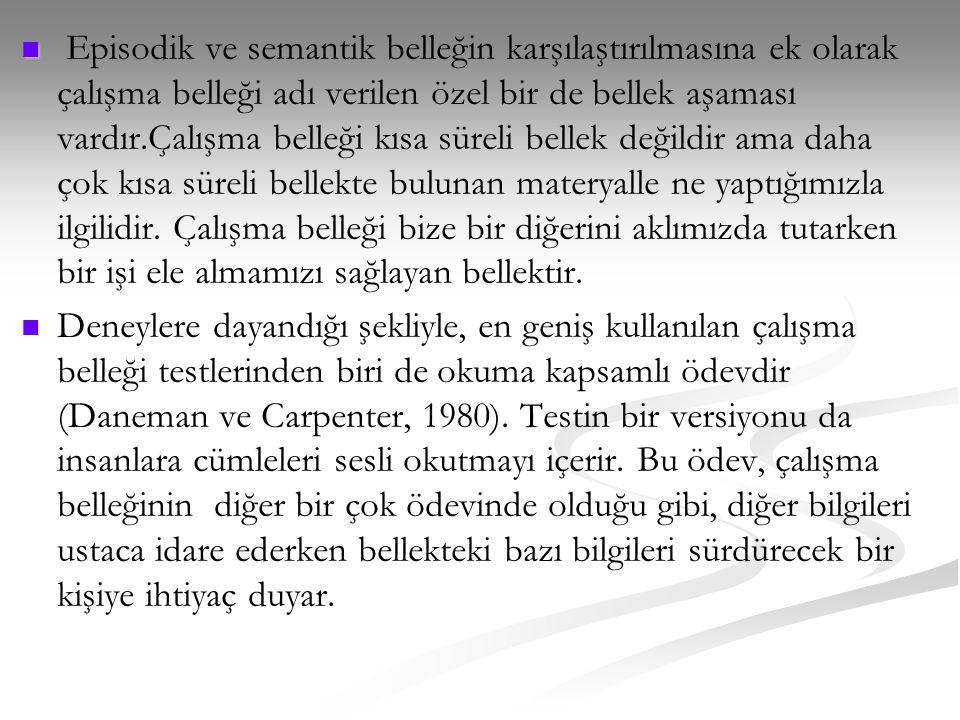 Bazıları çalışma belleğinin genel zeka yada 'g' ile izomorfik olduğunu iddia ederler (Kyllonen, 2002).