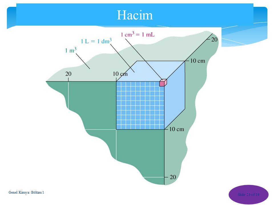 Bağıl Sıcaklıklar Slide 22 of 19 Genel Kimya: Bölüm 1