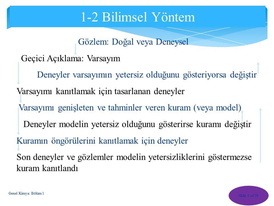 Slide 15 of 19 Karışımların Ayrılması karışım Kromatografi 1_17 Saf sıvı ABC karışım Genel Kimya: Bölüm 1