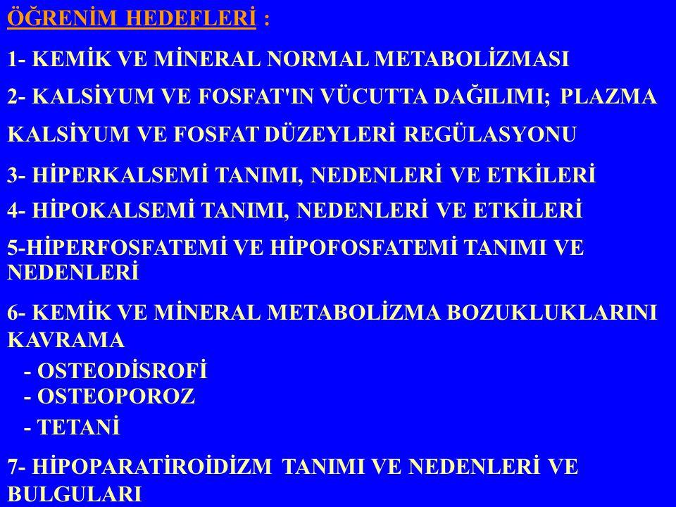 3- İLAÇLARA BAĞLI - Kortikosteroidler - Alkol - Tiroid hormonu - Kronik Heparin - Antikonvülzanlar 4- HEMATOLOJİK: - Multiple Myeloma - Sistemik Mastositozis 5- İMMOBİLİZASYON: 6- ENDOKRİN: - Hipogonadizm - Hiperkortisolizm - Hipertiroidizm - Hiperparatiroidizm 7- GASTROİNTESTİNAL : - Subtotal gastrektomi - Malabsorbsiyon sendromları - Obstrüktif sarılık - Biliyer Siroz