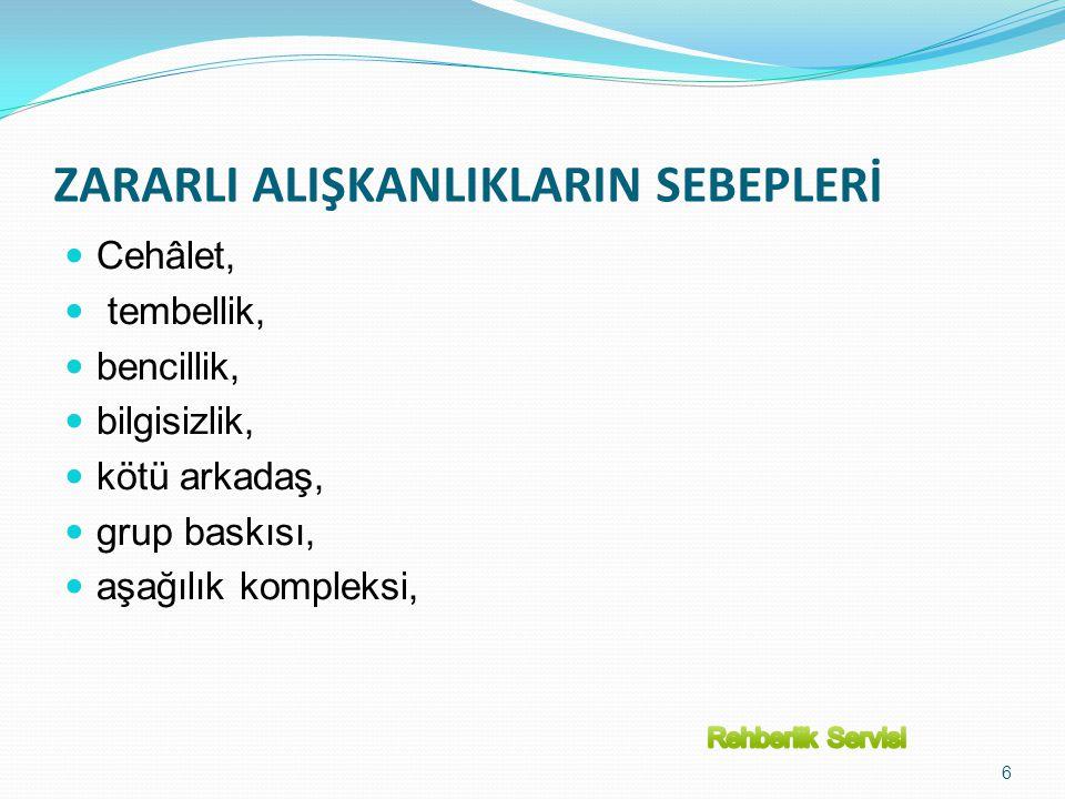 EĞER MEVCUT SİGARA İÇME PATERNLERİ DEVAM EDERSE 21.