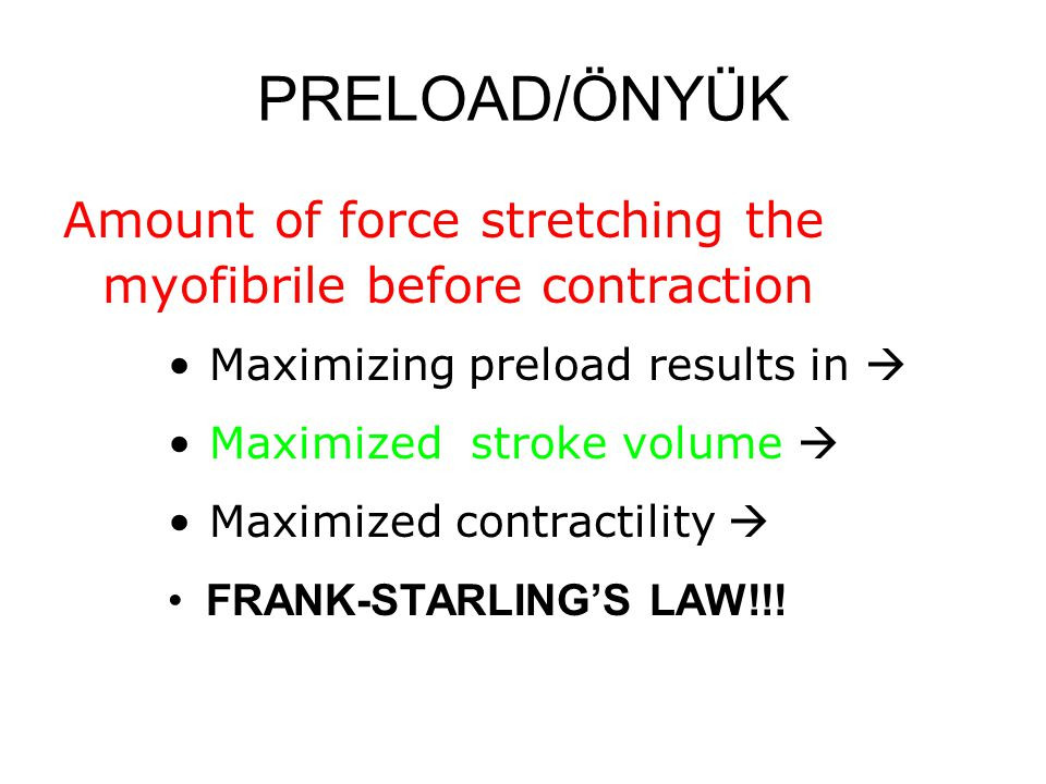 FRANK-STARLING'S LAW