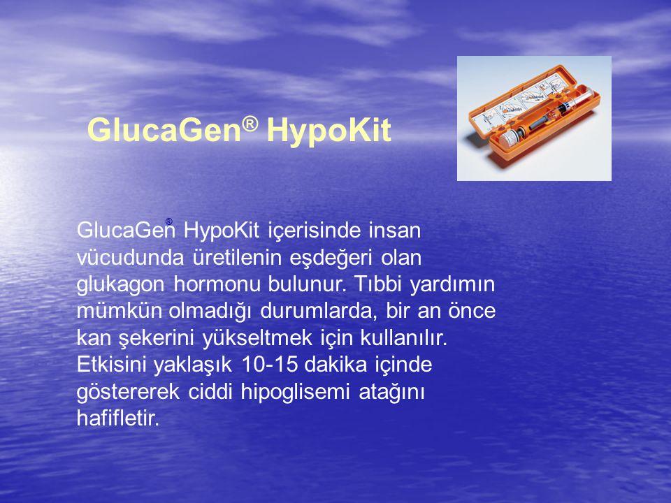 GlucaGen ® HypoKit GlucaGen HypoKit içerisinde insan vücudunda üretilenin eşdeğeri olan glukagon hormonu bulunur.