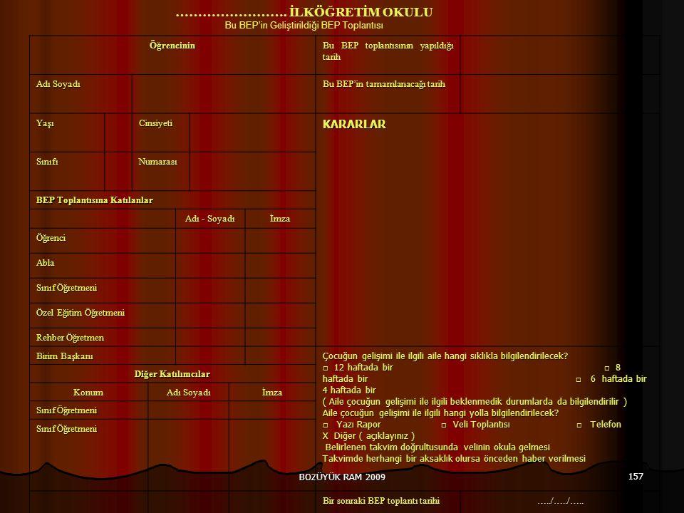 BOZÜYÜK RAM 2009 157 …………………….