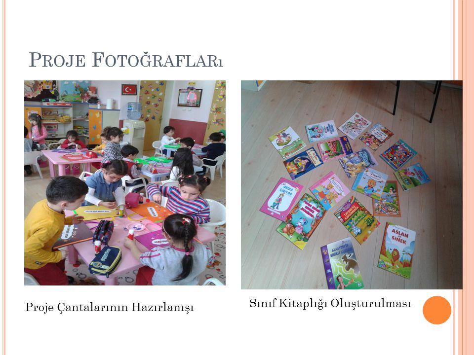 P ROJE F OTOĞRAFLARı Proje Çantalarının Hazırlanışı Sınıf Kitaplığı Oluşturulması