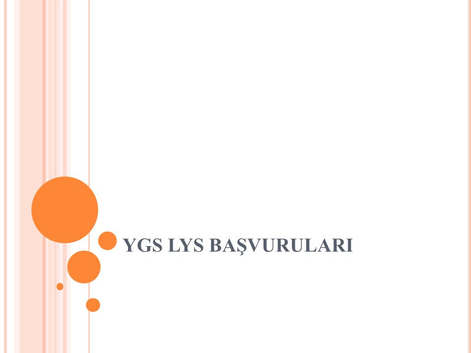 YGS LYS BAŞVURULARI