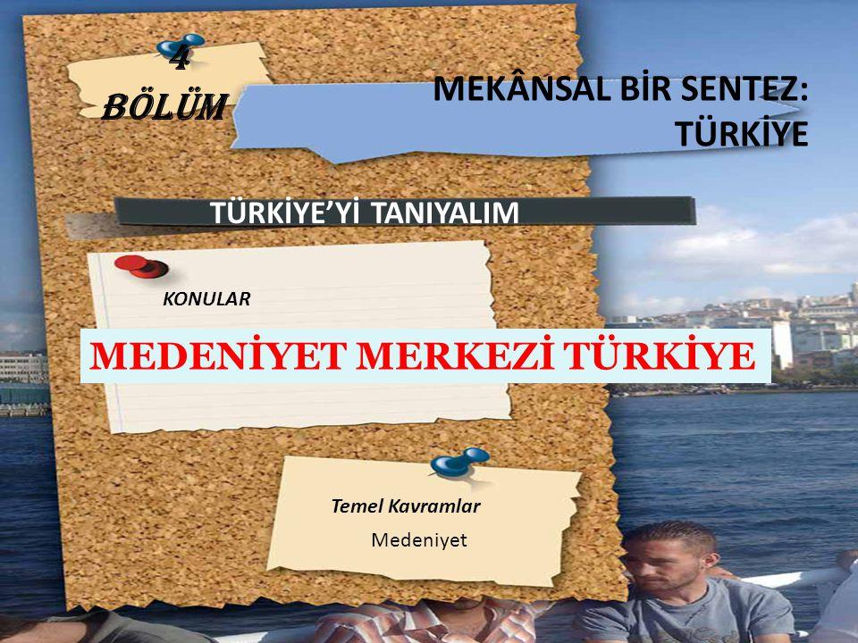 ANADOLU MEDENİYETİ ÇEVREİNE GÖRE DAHA ZENGİNDİR Tarihin ilk dönemlerinden itibaren Türkiye de, aynı zaman diliminde birden fazla büyük medeniyet yan yana yaşamıştır.