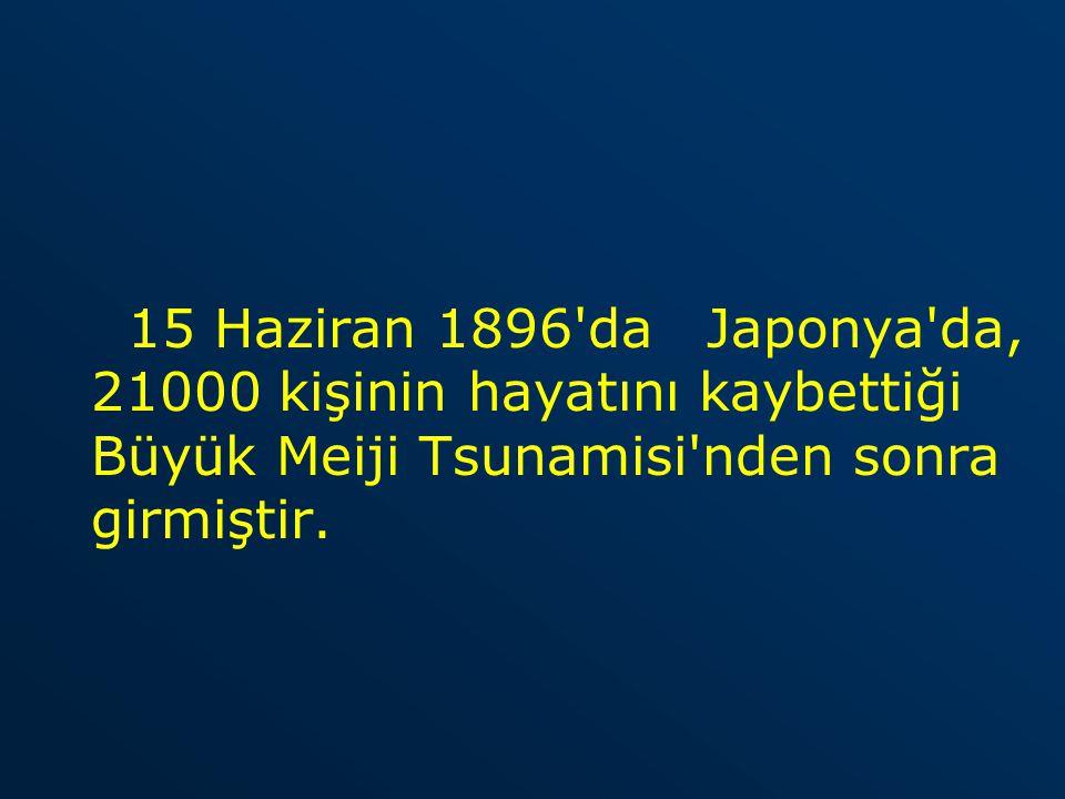 MS 21 Temmuz 365 te doğu Akdeniz de meydana gelen, Mısır ın İskenderiye kentinde binlerce insanı öldüren deniz depremi dalgası.