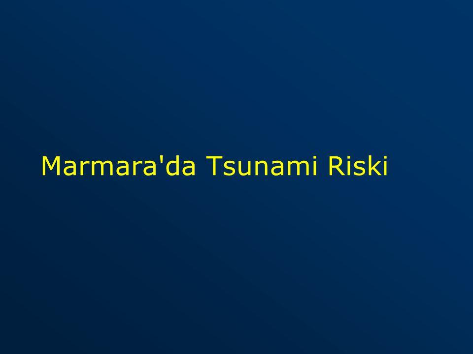 Marmara da tsunami oluşma olasılığı 100 yılda birdir.