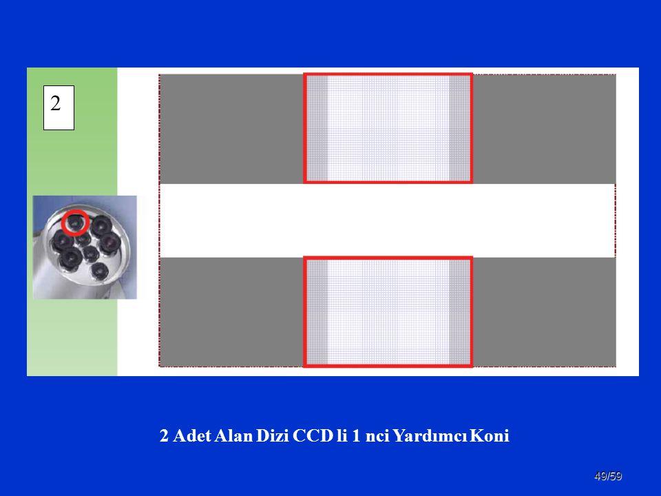 49/59 2 Adet Alan Dizi CCD li 1 nci Yardımcı Koni 2