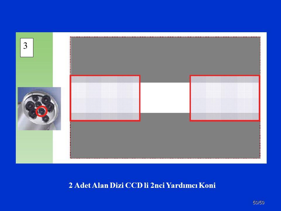 50/59 2 Adet Alan Dizi CCD li 2nci Yardımcı Koni 3