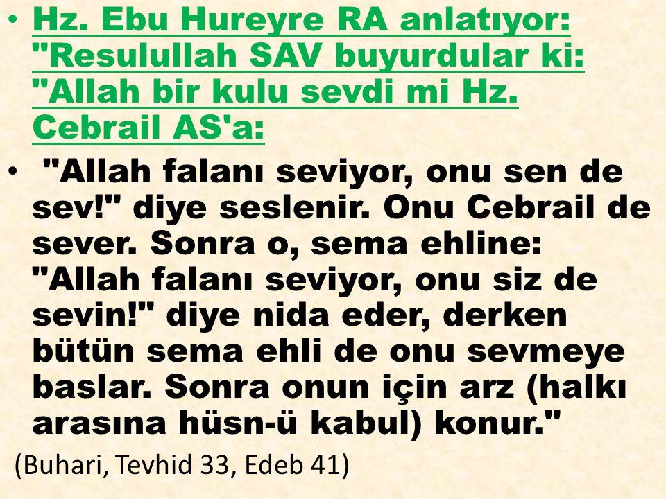 Hz. Ebu Hureyre RA anlatıyor: