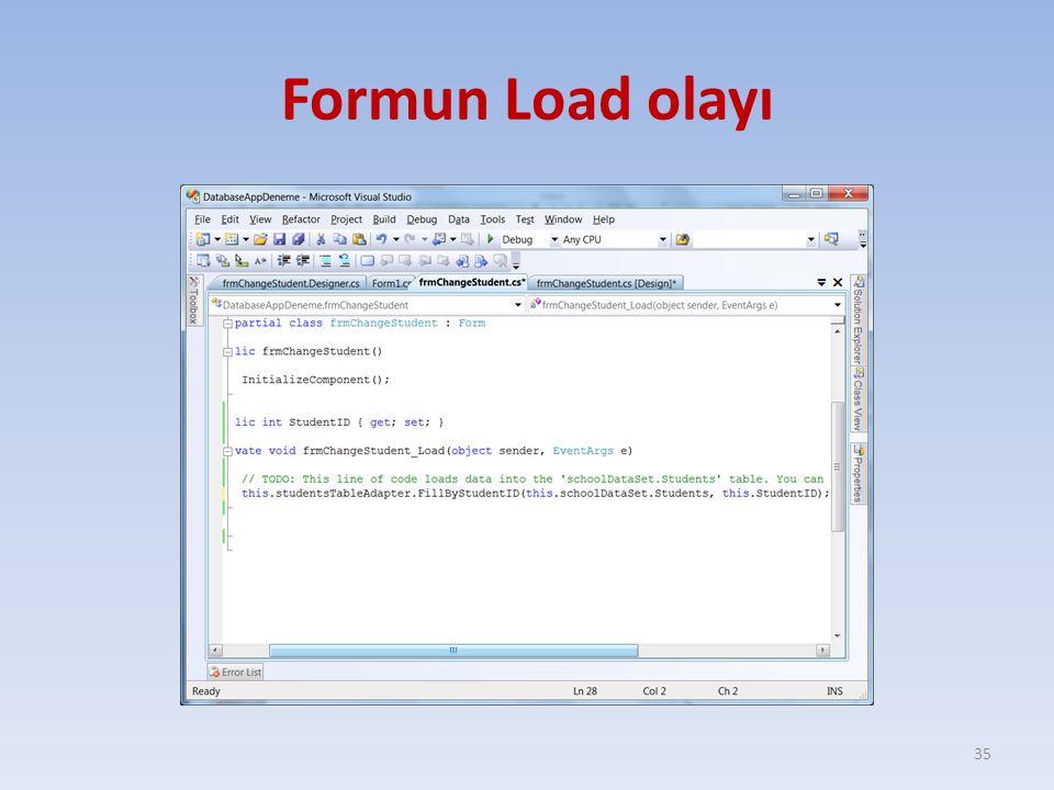 Formun Load olayı 35