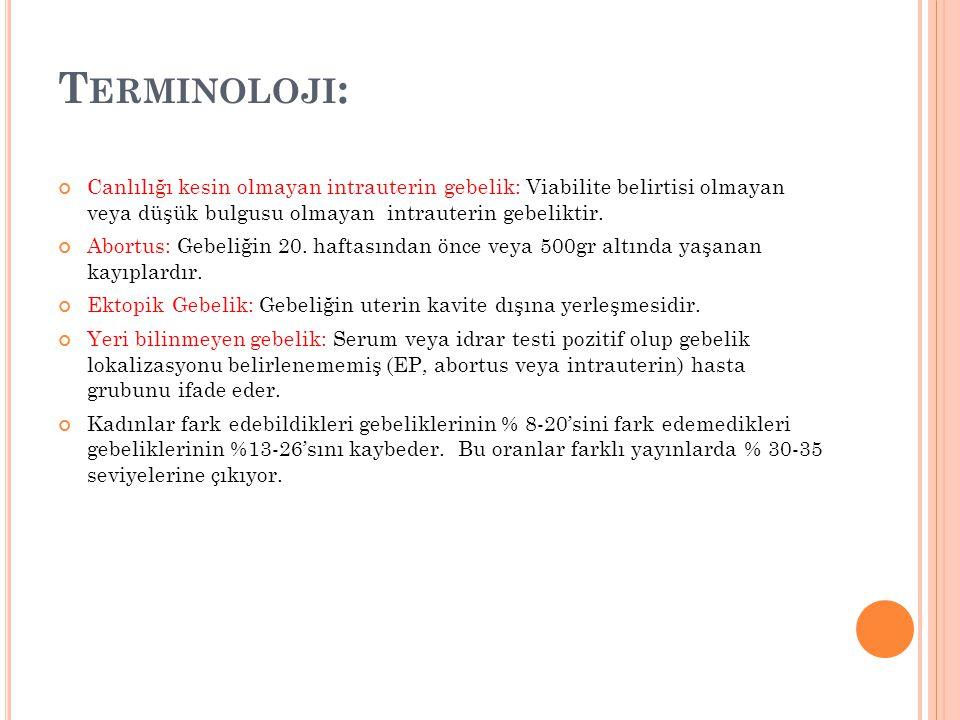 E RKEN G EBELIK T ESPITI Kanda hCG tespiti; ovulasyondan 6-12 gün, LH piki sonrası 8.
