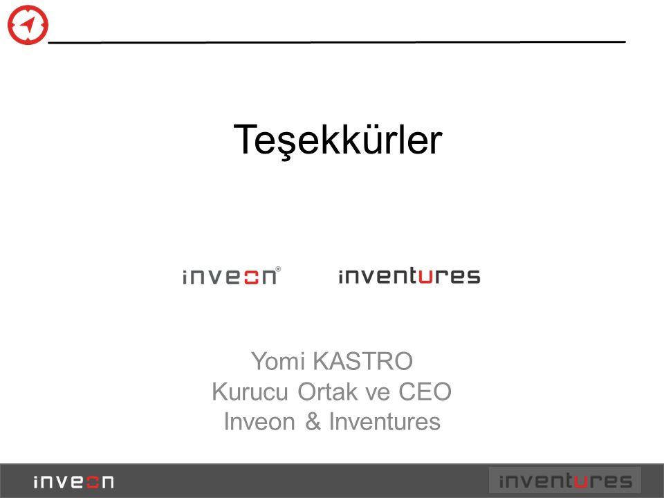 Teşekkürler Yomi KASTRO Kurucu Ortak ve CEO Inveon & Inventures