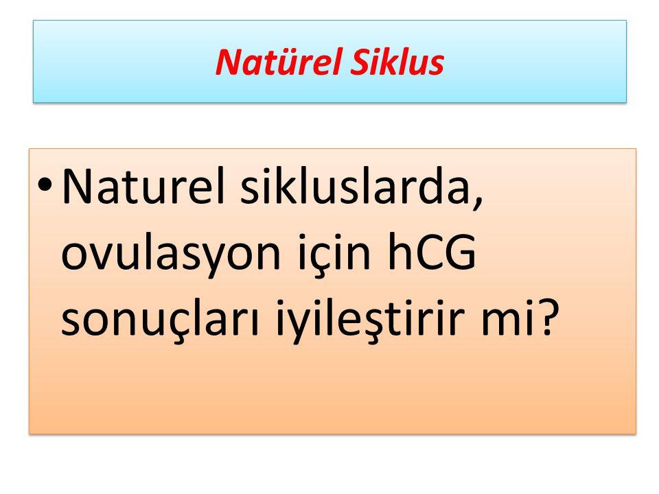 Naturel sikluslarda, ovulasyon için hCG sonuçları iyileştirir mi? Natürel Siklus