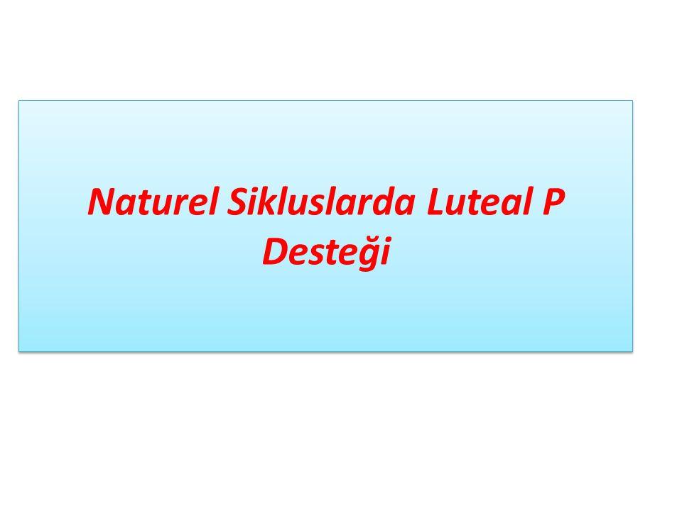 Naturel Sikluslarda Luteal P Desteği